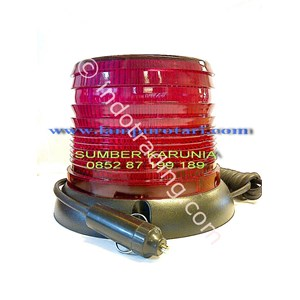 Lampu Strobo 4 inch Merah 24V