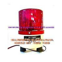 Lampu Rotari 4 inch Magnet Biru Murah 5