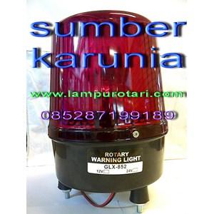 Lampu Rotari 6 inch DC Merah
