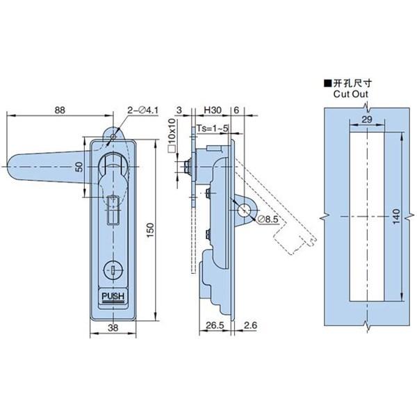 Swing Handle APL06-180-G