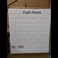 Wallpaper Foam Morif Bata Putih Matte