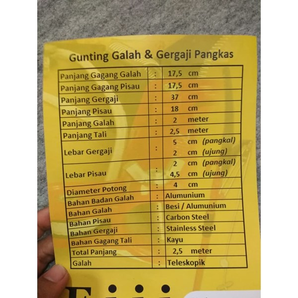Gunting Galah / Gunting Daun / Gunting Dahan Eiji