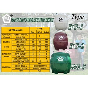 Septic Tank Bio Five Tipe Bg Series