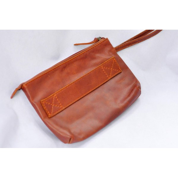 Clutch Handbag Genuine Leather PU