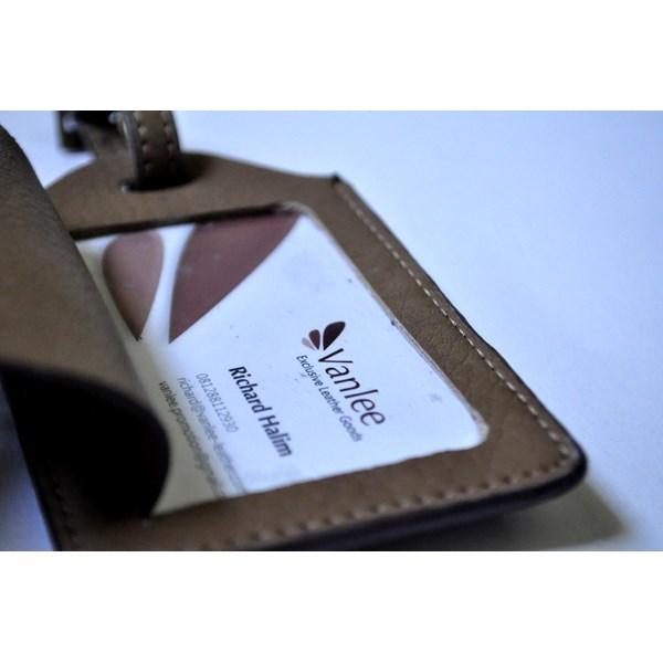 LUGGAGE TAG/ID Card Holder Kulit