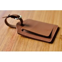 LUGGAGE TAG / ID Card Holder / Name Leather Tag