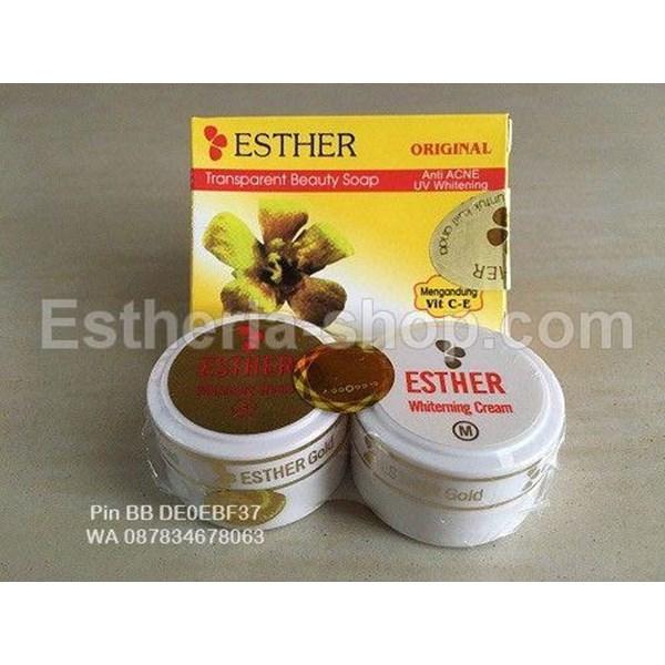 Cream Esther Gold Asli Paket Sabun Batang