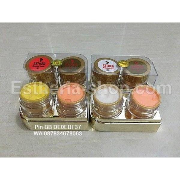 Cream Esther Gold Mika Exclusive Paket Sabun Batang