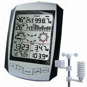 Pengukur Stasiun Cuaca Wireless Professional Dengan Rcc Jam Aw001