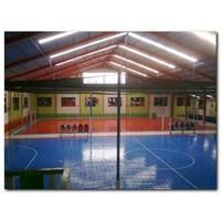 Dari Konstruksi Lapangan Futsal (lantai karet) 2