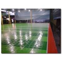 Dari Konstruksi Lapangan Futsal (lantai karet) 4