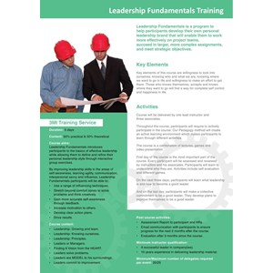 Leadership Fundamentals Training By PT Manajemen Manufaktur Indonesia