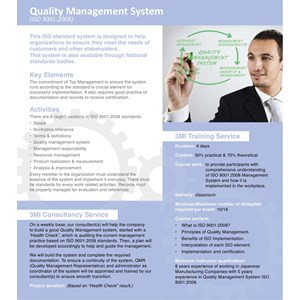 Quality Management System 9001 : 2008 By PT Manajemen Manufaktur Indonesia