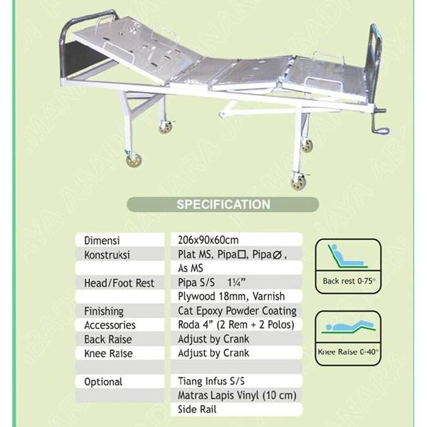 Peralatan Medis Lainnya Hospital Bed 2 Crank