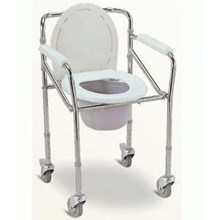 Wheeled Commode Toilet Chair FS 696