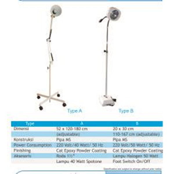 Peralatan Medis Lainnya LAMPU TINDAKAN STANDARD