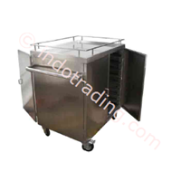 Food Trolley 4 castor Stainless  1