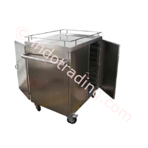 Food Trolley 4 castor Stainless