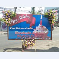 Flowerboard Happy Birthday Banner 2.5 Meter