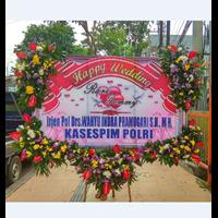 Bunga Papan Pernikahan model bunga 5 titik Banner 2.5 Meter