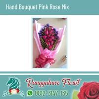 Hand Bouquet Pink Rose Mix