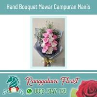 Hand Bouquet Mawar Campuran Manis