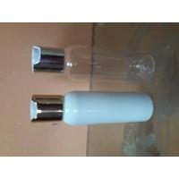 Botol pet100ml presstop gold/silver