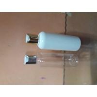 Botol pet250ml presstop gold/silver