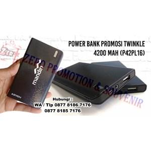 Dari Power Bank Souvenir 4200 Mah Cetak Logo - P42pl16 0