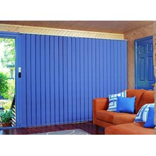 Blue Vertical Blind