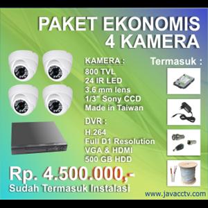 Promo Paket Cctv 4 Channel Ekonomis Berkualitas