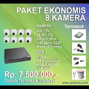 Promo Paket Cctv 8 Channel Ekonomis Berkualitas