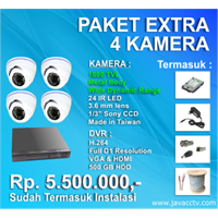 Jual Promo Paket Cctv 4 Channel Xtra High Resolution ( 1000 Tvl)