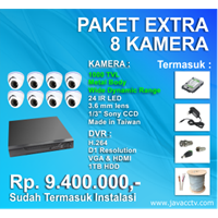 Promo Paket Cctv 8 Channel Xtra High Resolution ( 1000 Tvl)