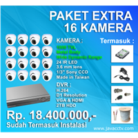 Jual Promo Paket Cctv 16 Channel Xtra High Resolution ( 1000 Tvl)