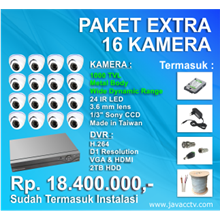 Promo Paket Cctv 16 Channel Xtra High Resolution ( 1000 Tvl)