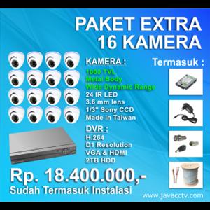 Promo Paket Cctv 16 Channel Xtra High Resolution ( 1000 Tvl)