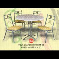 Jual MEJA LACKER D 92 MM B3 KURSI KM B3