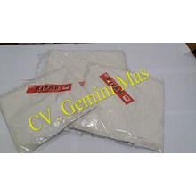 Kresek Putih Susu Kipas Merah 24cm