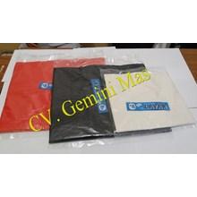 Kantong Kresek Putih Susu & Warna Layar Biru 28cm