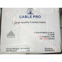 Kabel Coaxial Rg59 + Power Cable Merk Pro 1