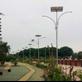 Tiang Lampu Taman Solar Panel