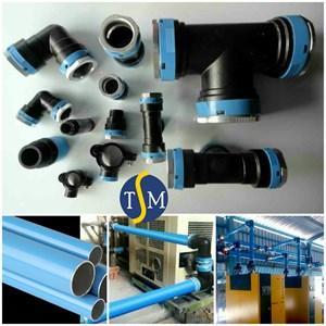Pipa Aluminium Kompresor Udara Eqofluids Push Fit Technology
