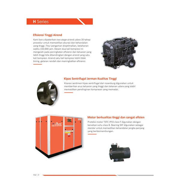 Screw  SCD 180 H series  Kompresor Angin