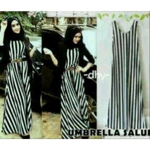 Umbrella Hijab Dress Garis