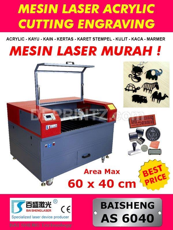 Jual Mesin Laser Cutting Acrylic Mini As 6040 Harga Murah