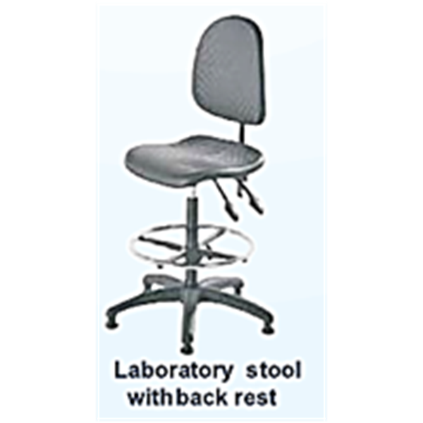 LABORATORY STOOL WITH BACK REST
