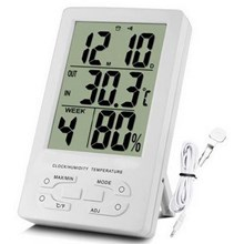 Higrometer - Thermometer Indoor And Clock Th96