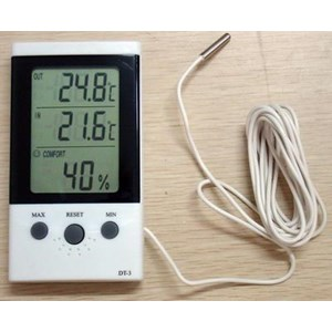 Indoor Outdoor Thermometer Higrometer Dt-3