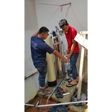 pemasangan filter pabrik